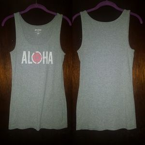 Gray Old Navy Aloha Top Size L
